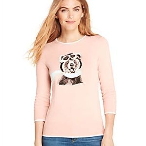 NWT Lands' End Amelia Bearhart Pink Sweater Small